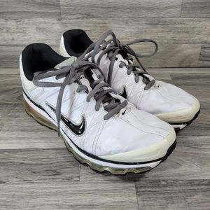 Nike Air Max 2009 Leather White Running Shoes 13